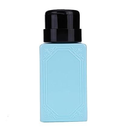 Vovotrade ❃ ❃ Liquid Alcohol prensa esmalte de uñas Remover dispensador bombeo Cleaner Botella (azul
