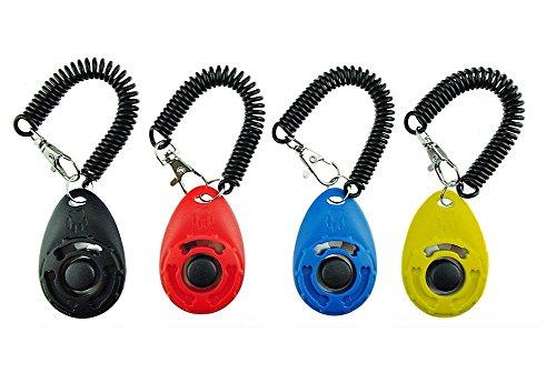 Gear4Petz Dog Training Clicker with Wrist Strap - Pet Training Clicker Set (4 color new) by Gear4Petz