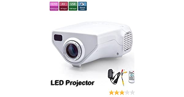 Flylinktech Proyector portátil, Mini Multimedia proyector LED con ...