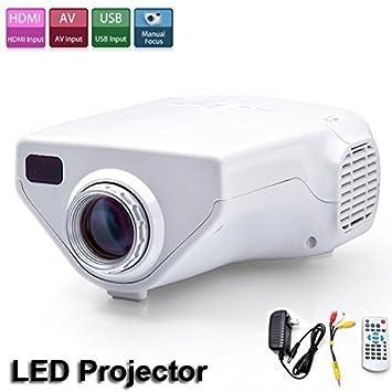 Flylinktech LED E03 Mini proyector portátil proyector ...