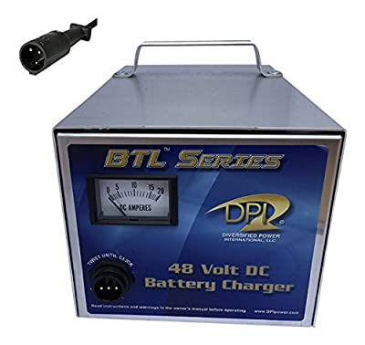 48volt 15amp Golf Cart Power Supply charger with Club car 3-pin round connector by DPI