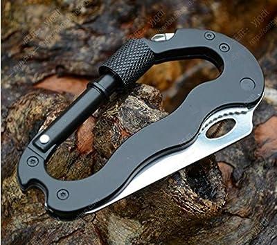 Domire Carabiner Keychain Clip Survival Tool - Includes Heavy Duty Knife & Bottle Opener by Domire