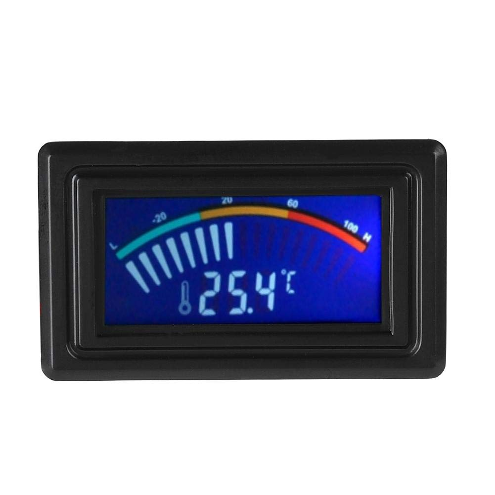 Digital Temperature Meter, Pointer Computer Water Cooling Thermometer, PC Flowmeter Water Cooling for LCD Display, Power Supply, 4 Pin D Connector