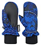 N'Ice Caps Kids and Baby Easy-On Wrap Waterproof Thinsulate Winter Snow Mitten (Blue Digital Camo, 2-3 Years): more info