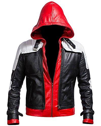 Batman Arkham Knight Red Hood Black & White Jacket Black, White & Red