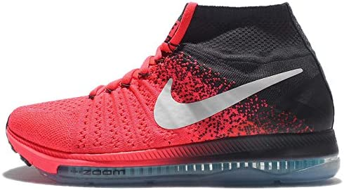 Nike Women's Zoom All Out Flyknit Running Shoes (8, Hot Punch/White Anthracite)