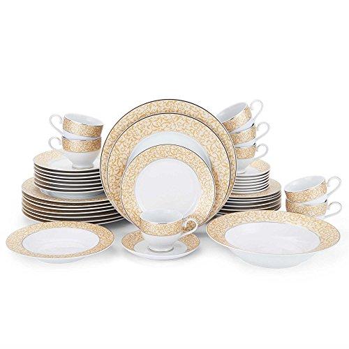 Mikasa Parchment Gold 42-Piece Dinnerware Set - Mikasa Fine Porcelain