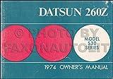 1974 Datsun 260Z Owner's Manual Original