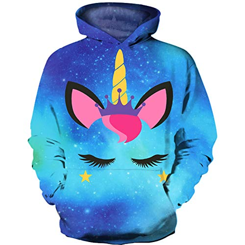 HaniLav Kids Novelty 3D Printed Sweatshirt Girl Boy Galaxy Pullover Hoodies