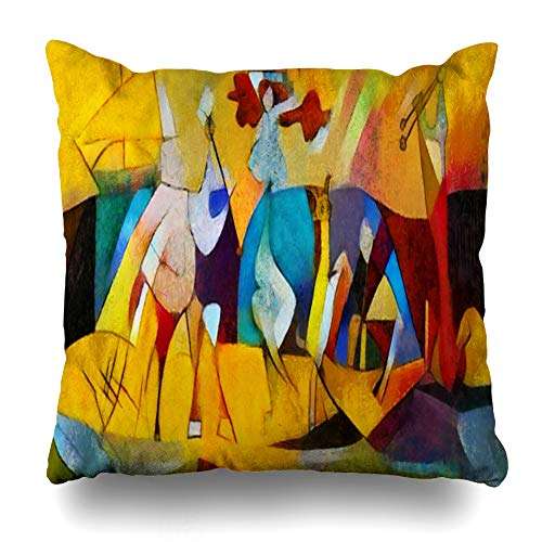 Kutita Decorativepillows Covers 18 x 18 inch Throw Pillow Covers,Alternative Reproductions Famous Paintings Picasso Applied Pattern Double-Sided Decorative Home Decor Pillowcase ()