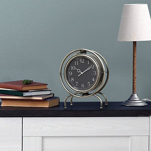 Gamma Clock (Stratton Home Decor Gamma Table top Clock)