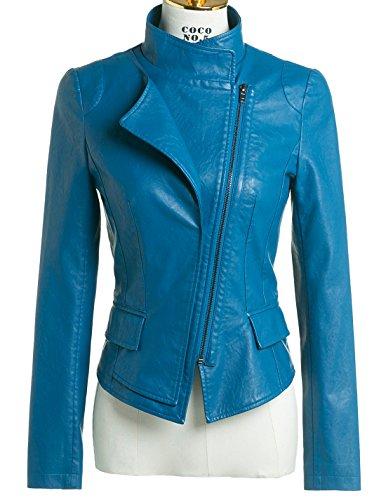 Slim Leather Motorcycle Jacket - 2