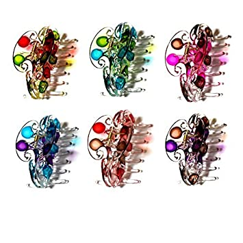 Ladies Fancy Multi-Color Floral Print Pattern Hair Claw Clip Clamp Jaw