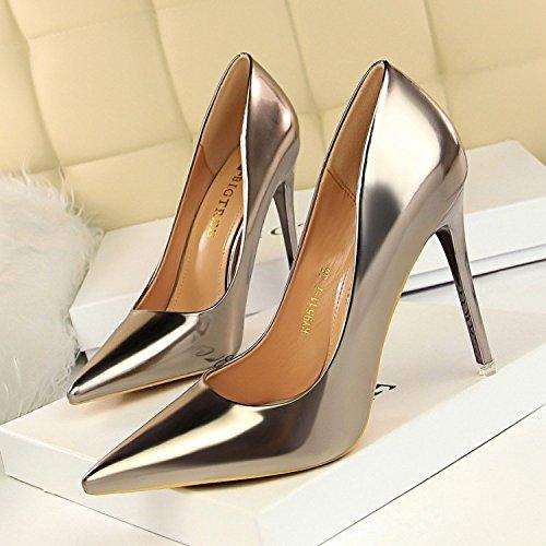 Seule Super Haut Femme De Chaussure Printemps Chaussures Boutique Talon Zhudj Fin Nuit Silvery Mariage 5cm 10 pq7TU