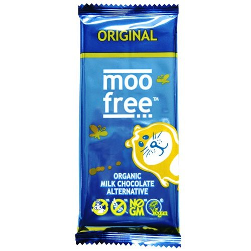 Moo Free Organic Dairy Free Chocolate Bar 100 g (Pack of 4)