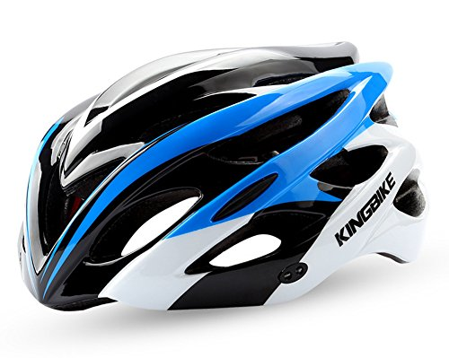 ChezMax Men and Women Specialized Bike Helmet with Visor, Adjustable Sport Cycling Helmet for Road Mountain Biking, Motorcycle, Lake Blue