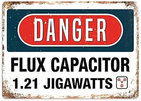 Qidushop Danger Flux Capacitor Plaque Art Delorean Bttf 80 S Film Retro Metal Wall Decor Art Shop Man Cave Bar Garage Aluminum Sign Amazon Co Uk Garden Outdoors
