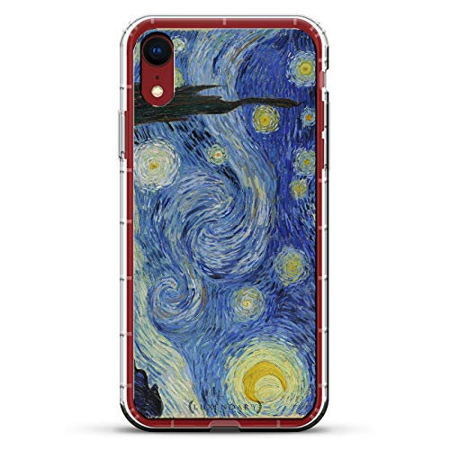 - STARRY NIGHT VAN GOGH | Luxendary Air Series Clear Silicone Case with 3D printed design and Air-Pocket Cushion Bumper for iPhone XR (new 2018/2019 model with 6.1