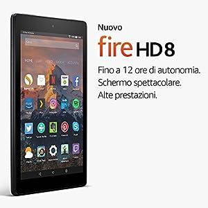 """Nuovo Tablet Fire HD 8, schermo HD da 8"""" HD, 16 GB, (Nero) - con offerte speciali"""