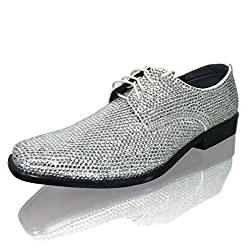 Clear Crystal Leather Shoe