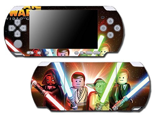 Star Wars Jedi Darth Vader Luke Cartoon Video Game Vinyl Decal Skin Sticker Cover for Sony PSP Playstation Portable Slim 3000 Series System by Vinyl Skin Designs