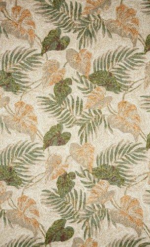 Liora Manne Ravella Tropical Leaf Rug, Indoor/Outdoor, 5-Feet by 7-Feet 6-Inch, (Leaf Tropical Rug)