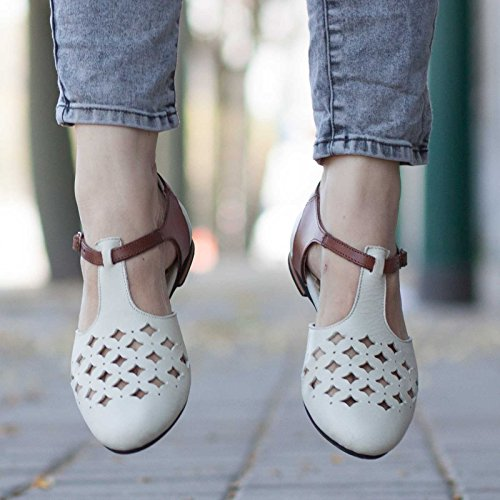 White Leather Handmade Women's Sandals by Bangi Shoes
