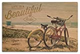 Lantern Press Life is a Beautiful Ride (10x15 Wood Wall Sign, Wall Decor Ready to Hang)