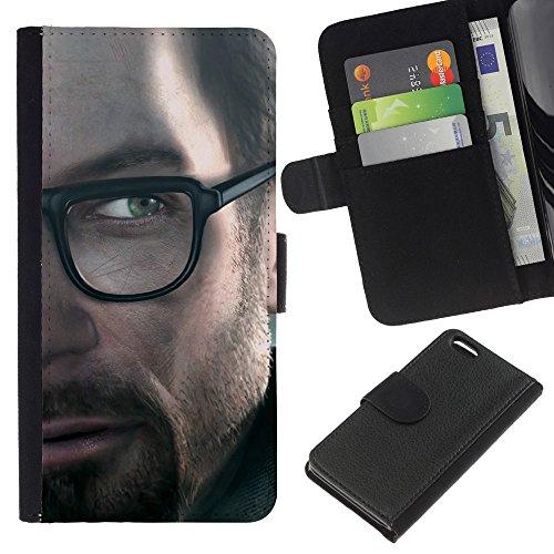 Funny Phone Case // Cuir Portefeuille Housse de protection Étui Leather Wallet Protective Case pour Apple Iphone 5C /Gordon Freeman HL/