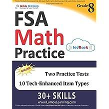 Florida Standards Assessments Prep: 8th Grade Math Practice Workbook and Full-length Online Assessments: FSA Study...