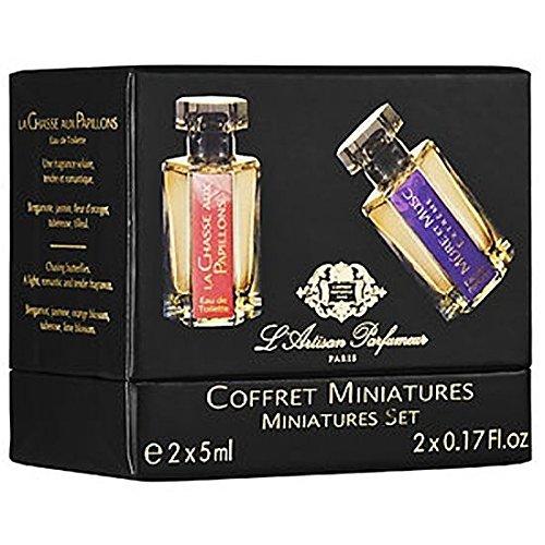 L'Artisan Parfumeur Coffret Miniatures Miniature Eau De Parfum Set: La Chasse Aux Papillons and Mure Et Musc Extreme