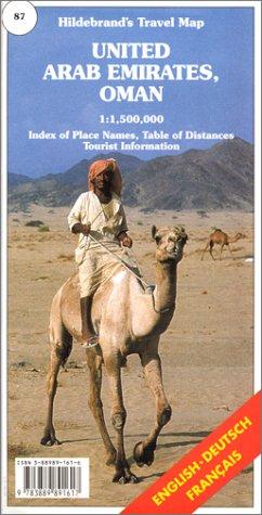 United Arab Emirates, Oman, Bahrain, Quatar (Hildebrand's Travel Map)...