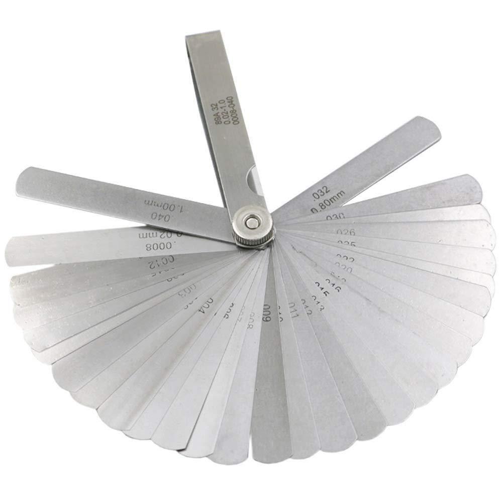 INSO Blade Master Feeler Gauge Measurement Tool Stainless Steel Feeler Gauge Dual Marked Metric and Imperial Gap Measuring Tool