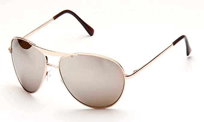 44833a5c7d15f Image Unavailable. Image not available for. Color  SWG EYEWEAR Metal Classic  Spring Temple Hinge Aviator Sunglasses in Gold Mirror