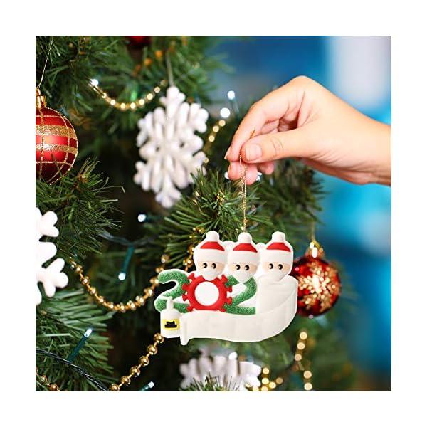 Hbsite Ornamento di Natale Ciondoli di Natale 2020 Quarantena Personalizzata Famiglia Ornamenti per L'Albero di Natale Decorazione Sopravvissuto Regalo Creativo Personalizzato (Famiglia di 3 Persone) 7 spesavip