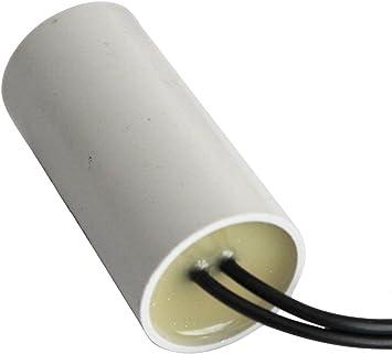 Aerzetix Condensatore permanente di lavoro per motore 6/µF 450V con cavo 10cm C10212