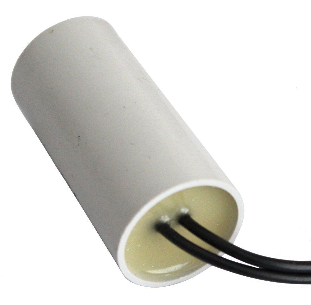 Aerzetix Condensatore permanente di lavoro per motore 4/µF 450V con cavo 10cm C10199