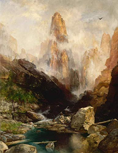 Mist in Kanab Canyon Utah, Thomas Moran. Blank journal: 150 blank pages, 8,5x11 inch (21.59 x 27.94 cm) Laminated