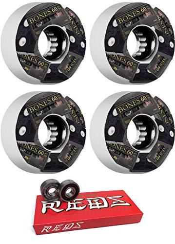 国産品 Bones Wheels 60mm Bones ATF - - ミニDV ホワイトスケートボードホイール - 80a ボーンベアリング付き - 8mm ボーン スーパーレッド スケートボードベアリング - 2個セット B07KYJK5BC, ティーハーブ:9e6fe297 --- mvd.ee