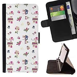 Jordan Colourful Shop - gift paper white pattern cute drawing For Apple Iphone 5C - Leather Case Absorci???¡¯???€????€????????&