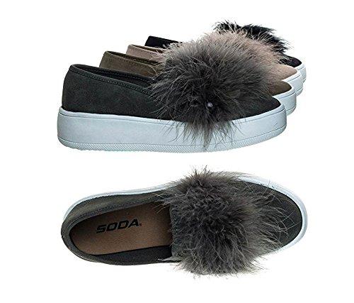 Frisdrank Fashion Sneakers Met Platform Comfortabele Mve Schoenen Grijs Pu