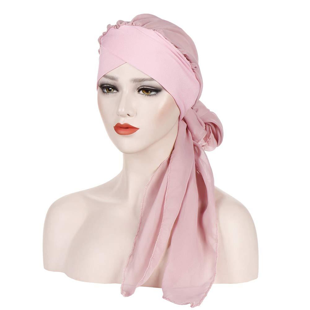 iKulilky Copricapo Chemioterapia Donna Foulard Capelli Chemio Cappello Beanie Fascia Turbante Verde Bandana Fascia Capelli Lunga Headwrap