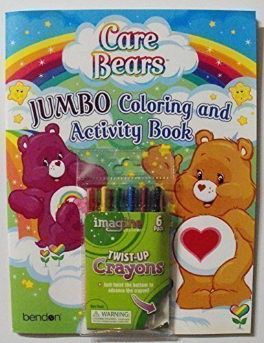 Care Bears Bundle (C) 64 Page Coloring and Activity Book Plus 1 Pack of 6 Twist-Up Crayons. American Greetings