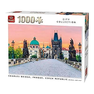 King 55859 Charles Bridge Praga Puzzle 1000 Pezzi A Colori 68 X 49 Cm