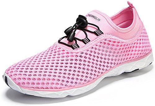 Pink Water Beach Shoes Womens Aqua Zhuanglin Lightweight Sneakers Cw0qfn