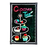 CO-Z 28'' X 20'' Illuminated LED Message Writing Board Erasable Flashing with Multiple Colors and Remote Control