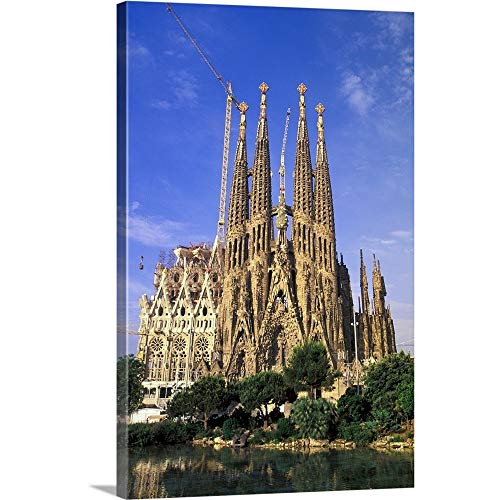 Walter Bibikow Premium Thick-Wrap Canvas Wall Art Print entitled Spain, Barcelona. Sagrada Familia Cathedral, Designed By Antoni Gaudi 16''x24'' by Canvas on Demand
