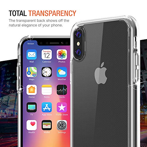 Trianium Clarium Case Designed for Apple iPhone Xs MAX Case (2018 6.5'' Display ONLY) Reinforced Corner TPU Cushion and Hybrid Rigid Clear Back Plate Protection Covers [Enhanced Hand Grip] - Clear by Trianium (Image #7)