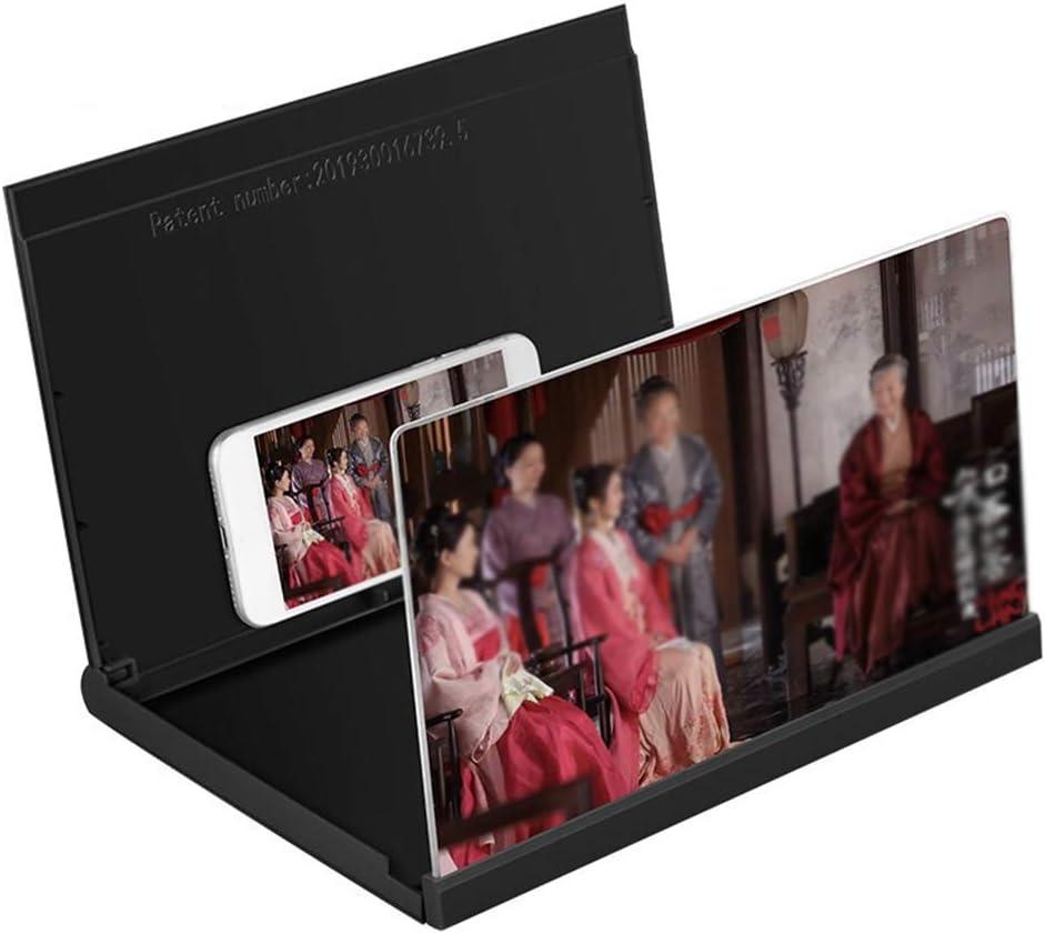 CJSWT Pantalla de 12 Pulgadas de Pantalla Lupa para el teléfono móvil Universal 3D Amplificador Lupa HD Soporte para Anti-radiación Titular vídeo: Amazon.es: Hogar