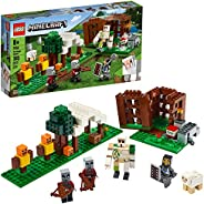 LEGO Minecraft The Pillager Outpost 21159 Awesome Action Figure Brick Building Playset for Kids Minecraft Gift